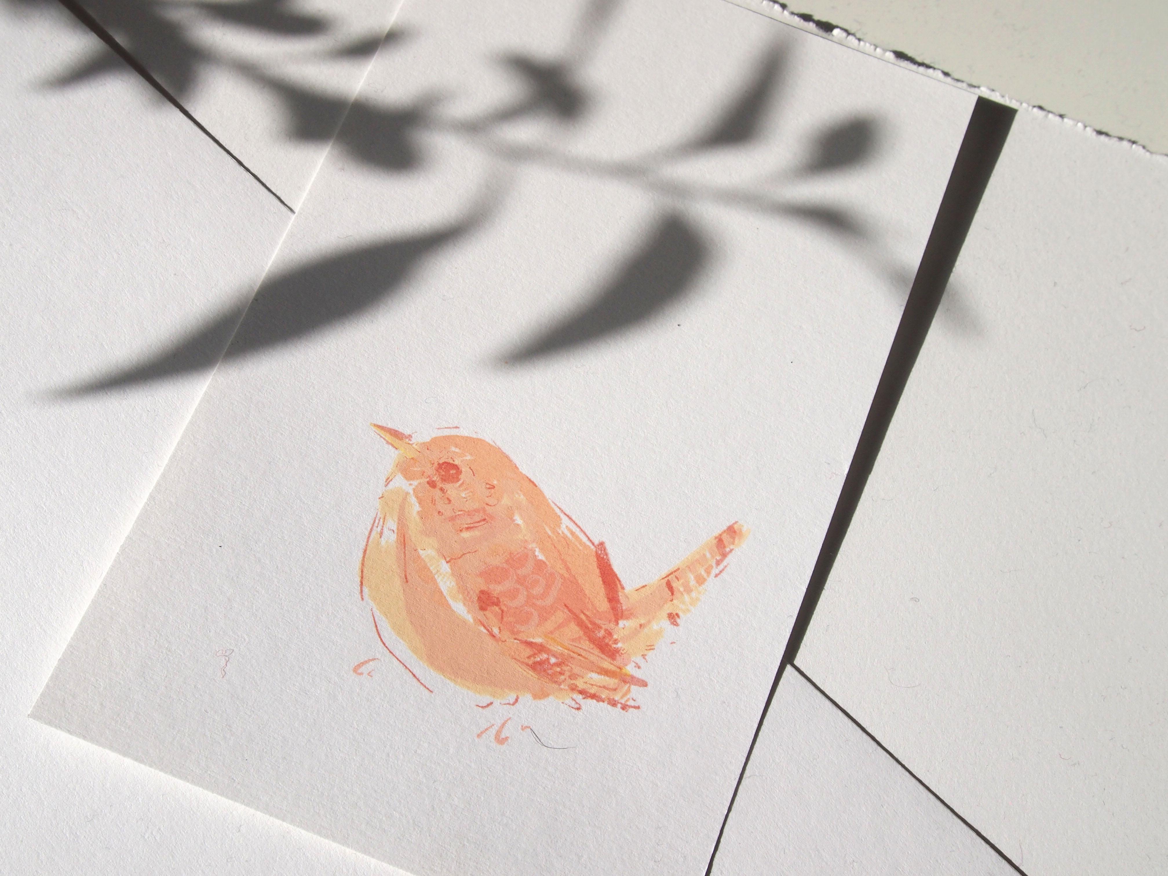 Wren print detail Georgia Green